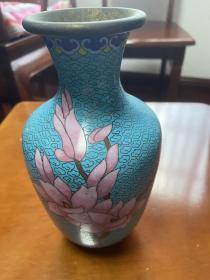 旧景泰蓝花瓶【一只】
