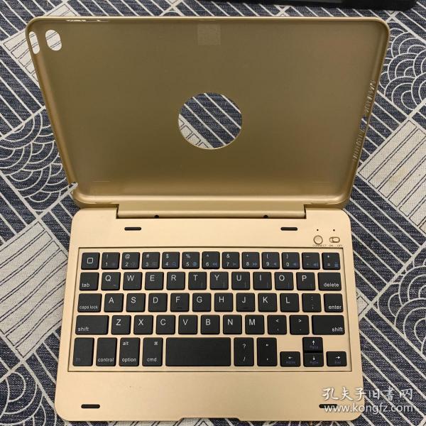 【闲置物品,低价转让】iPad Mini5蓝牙键盘(金色版),秒变笔记本电脑。(通用mini USB口充电)【强烈推荐:非常好用,几乎没有延迟!】
