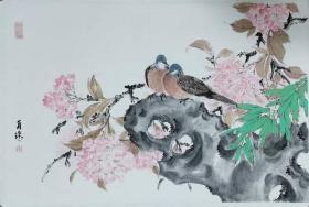 天津美院贾广健研究生贠瑶花鸟作品