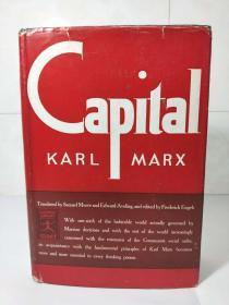 Capital a Critique of Political Economy《资本论》  Karl Marx,恩格马克思著,1906 Modern Library 布面精装 书口刷彩