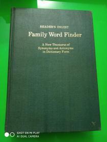 美国原版影印 读者文摘同义词反义词词典 Reader's Digest Family Word Finder