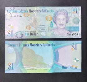 开曼群岛 1元纸币  2010年 外国钱币
