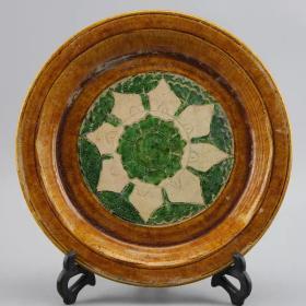 唐三彩陶瓷盘