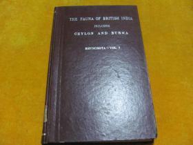 THE FAUNA OF BRITISH INDIA INCLUDING CEYLON AND BURMA �����辨�����у�剧��锛��板害�ㄧ�╁� ���荤被  绗�7��