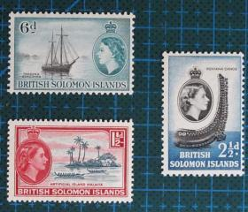 英属所罗门群岛邮票----女王