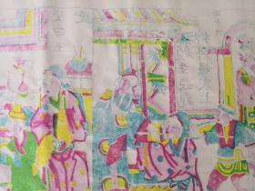 70一80年代武强义兴成画店戏曲木版年画版画*三侠五义故事一套8小张未裁开