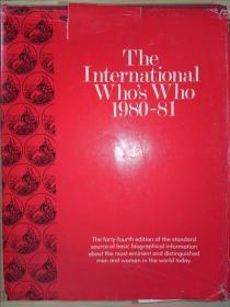 The international whos who 1980-81:Forty-fourth edition(详见图)