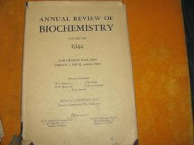 ANNUAL REVIEW OF BIOCHEMISTRY 1944  英文原版  【牛皮精装】