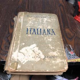俄文原版:ITALIANA(意大利语)57年布脊精装版,