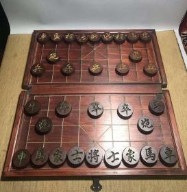 红木象棋 自带棋盘 一套完好