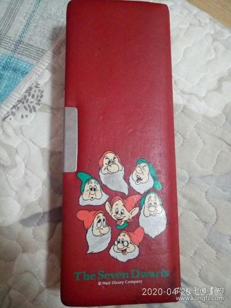 老物件 華特迪士尼 七個小矮人文具盒