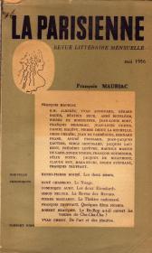 《LA PARISIENNE》,REVUE LITTERAIRE MENSUELLE, ( FRANCOIS MAURIAC专刊),16开法国正版。多买几本合并运费。