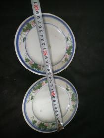 釉下彩瓷器盘子5个