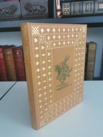 Alices Adventures In Wonder land《爱丽丝漫游奇境记》Lewis Carroll卡莱尔儿童文学经典  franklin library 1975年 真皮精装 世界永恒经典100本名著系列丛书之一
