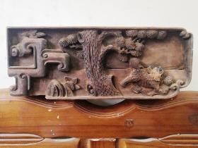 清中期精品木雕花板老房子构件