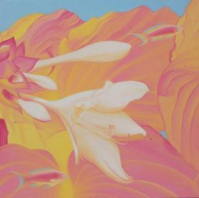 名家徐渊画作---花和鱼系列-塑胶彩1