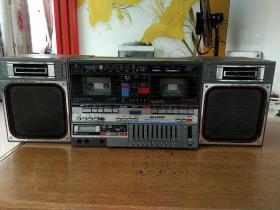 夏普GF-800双卡收录机,各项功能正常播放,详细见图,