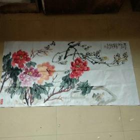 安徽萧县著名画家,国家一级美术师(韩有钊)国画软片,四尺整纸