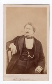 法国大文豪 大仲马 Alexandre Dumas 原版老照片 精品