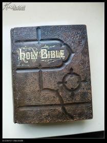 1882年英文版 Holy Bible 圣经 8开巨册 重4公斤 大量版画