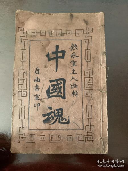 稀见清末上海书局石印:梁启超名著《中国魂》宣统2年