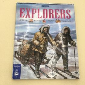Explorers Hardcover – September 1, 2002 马可波罗游记英文原版彩色儿童书9780753454527