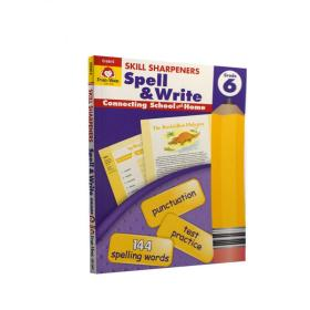 Evan-MoorSkillSharpeners技能铅笔刀Spell&WriteGrade6六年级拼写美国加州教辅