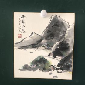 日本回流字画 262号方型色纸 卡纸小画片