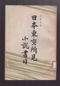 北大著名教授孙楷弟《日本东京所见小说书目》(1958年初版,仅印2100册)中共中央西北局藏书