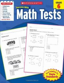 Scholastic Success with Math Tests, Grade 6数学测试题6学乐成功系列