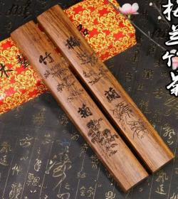 一对大型天然木雕镇纸单个长25厘米一对的价格