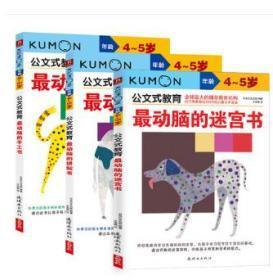 公文式教育4-5岁 kumon儿童手工书 4-5岁公文式教育童书迷宫手工儿童手工少儿宝宝趣味亲子游戏书迷宫最动脑的手工书