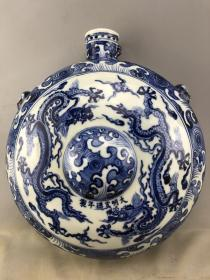 青花盘龙老瓷瓶B3135.