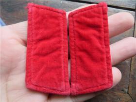 60--70年代  红色年代  红领章一副  绒布料  老领章