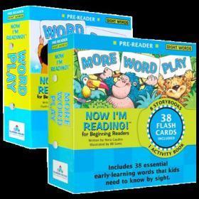 我的首套自然拼读故事书 预备级阶段2册套装 英文原版Now Im Reading Pre-Reader现在我能读系列自然拼读法 学前英语启蒙分级读物