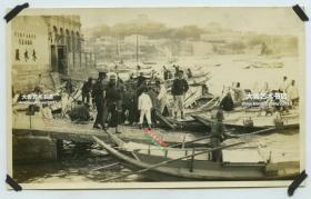 民国时期福建厦门码头和水厂老照片,14.1X8.6厘米,泛银