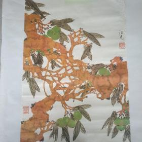 旧藏大师程法光宣纸画珂罗版