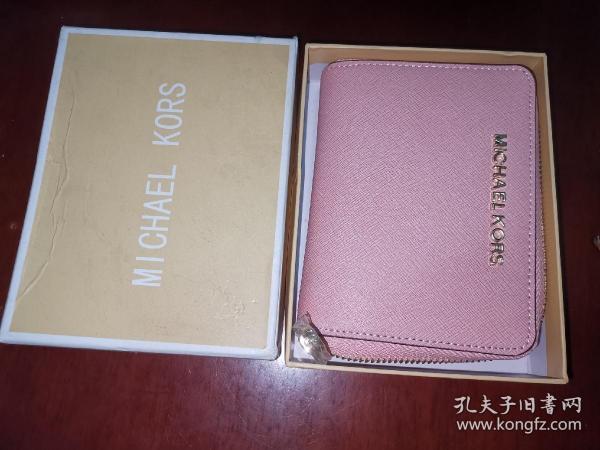 全新正品 MK女士短款钱包卡夹零钱包牛皮十字纹钱夹小卡包