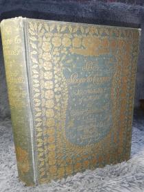 1912年签名  She Stoops to Conquer 奥利弗歌德史密斯《屈身求爱》 含20副贴片式彩图  烫金封面及书脊  HUGH THOMSON作图  另有黑白插图