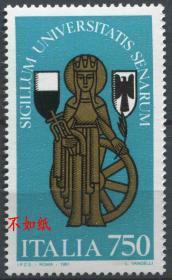 意大利邮票 1991年 锡耶纳大学 圣母 雕刻版 1全新