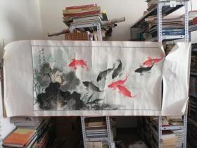 杨光 荷香鱼乐图