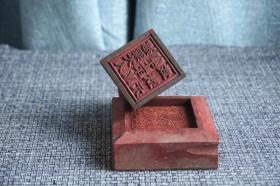 木雕佛塔香樟木巡案大人令印 道教法器