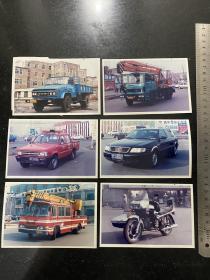 八九十年代各种汽车卡车摩托车及特种车辆的早期彩色老照片40张合售 所有车辆都是辽宁省鞍山市车牌