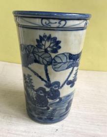 收到【筷子筒】一个、青花