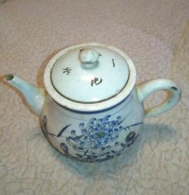 清代茶水壶保存完好,传世美品