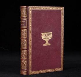 【内含多幅精美版画!1834年伦敦出版 塞缪尔•罗杰斯《诗选》1册全】摩洛哥皮精装,封面书脊烫金压花,三口刷金。
