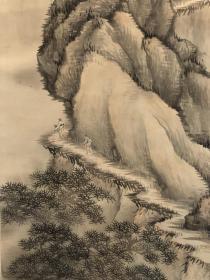 日本回流,近代名家山本香云1903年作品 绢本原绫裱(有开胶脱落),画心114*36,整体47*147。沈45本交易仅支持自提、邮寄