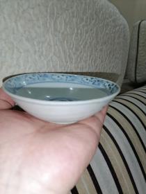 【包老保真】明代中后期瓷器,凤纹茶盏(小碗,笔舔)