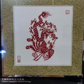 中国非物质文化遗产剪纸摆件