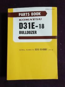 PARTS BOOK KOMATSU  D31E-18  BULLDOZER